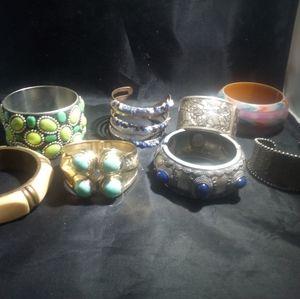 Southwestern jewelry Bengals and cuff lot